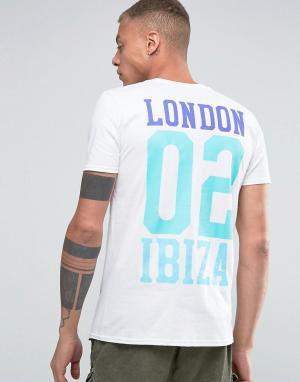 Abuze London Футболка с принтом на спине x Amnesia 02 Ibiza. Цвет: белый