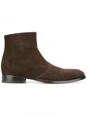 Ботинки на молнии Jean-Michel Cazabat. Цвет: коричневый