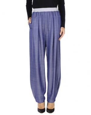 Повседневные брюки OBLIQUE CREATIONS. Цвет: грифельно-синий