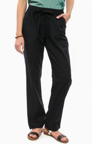 Темно-синие хлопковые брюки с карманами LUHTA. Цвет: синий