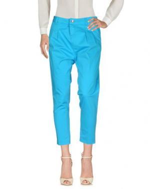 Повседневные брюки ENTRE AMIS. Цвет: лазурный