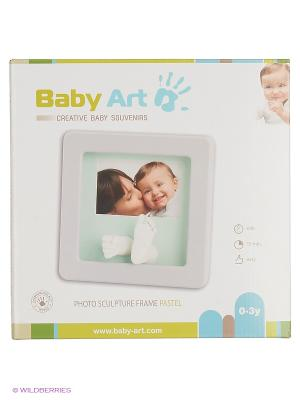 Рамочка Кит Делюкс с фото (светло-серая) Baby Art. Цвет: светло-серый