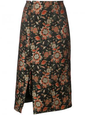 Жаккардовая юбка Nomia. Цвет: чёрный