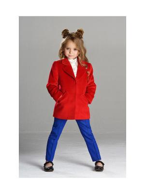 Укороченное пальто MORU. Цвет: красный