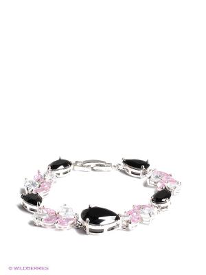 Браслет Happy Garnets. Цвет: серебристый, бледно-розовый, черный