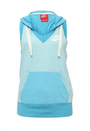 Майка спортивная Nike. Цвет: голубой