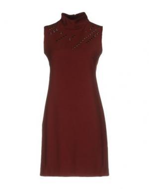 Короткое платье BIANCOGHIACCIO. Цвет: коричневый