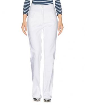 Джинсовые брюки MISS NAORY. Цвет: белый