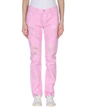 Джинсовые брюки MINIMARKET. Цвет: розовый
