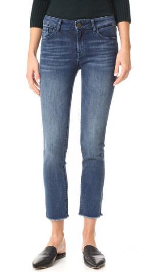 Прямые укороченные джинсы Mara Instasculpt DL1961. Цвет: alias