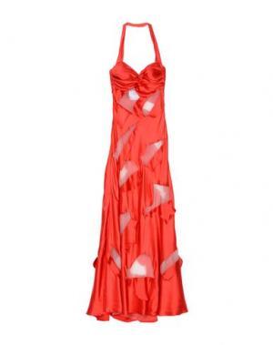 Длинное платье MOSCHINO. Цвет: красный