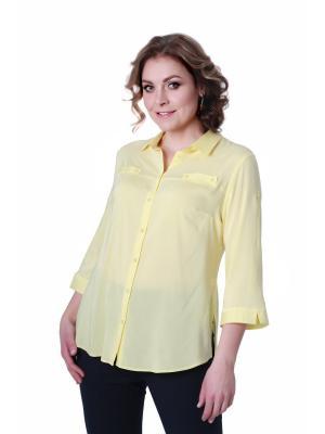 Блузка BLAUZ. Цвет: светло-желтый