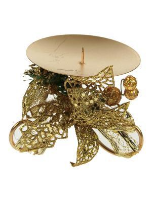 Подсвечник Рождественский Русские подарки. Цвет: зеленый, золотистый