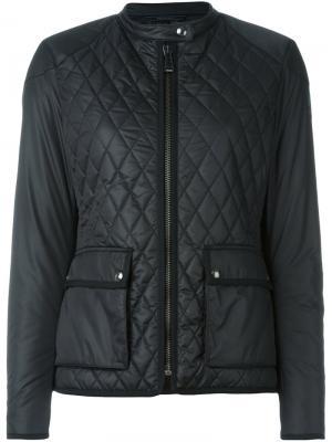 Стеганая куртка на молнии Belstaff. Цвет: чёрный