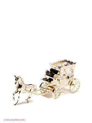 Фигурка Карета с лошадью Юнион. Цвет: золотистый