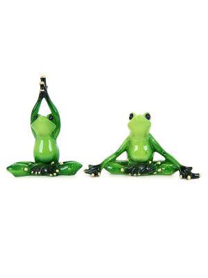 Фигурка Лягушки йога Elan Gallery. Цвет: зеленый