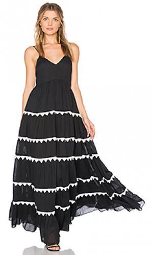 Макси платье marieta Carolina K. Цвет: черный