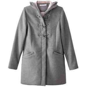 Короткое пальто с капюшоном MADEMOISELLE R. Цвет: розовое драже,серый меланж