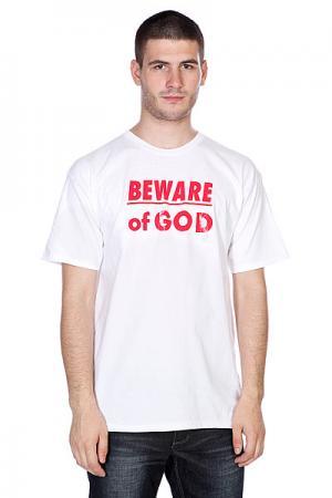 Футболка  Beware Of God White 3D. Цвет: белый