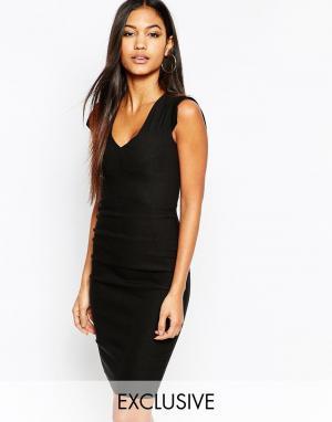 Vesper Платье-футляр миди. Цвет: черный