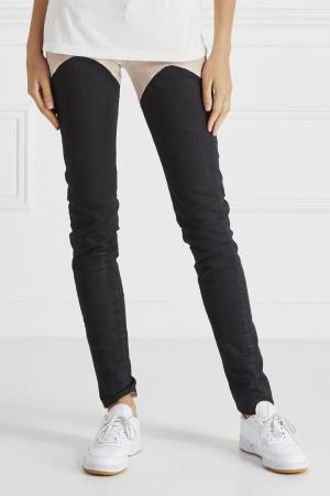 Контрастные джинсы Ring. Цвет: черный, бежевый