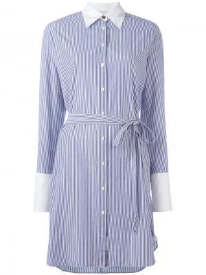 Полосатое платье-рубашка Rag & Bone. Цвет: белый