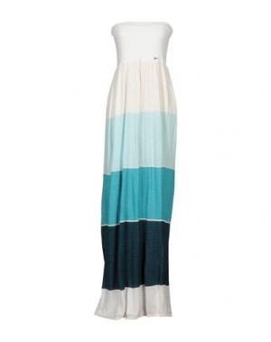 Длинное платье PATRIZIA PEPE. Цвет: небесно-голубой