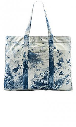 Acid wash beach tote bag Stussy. Цвет: синий