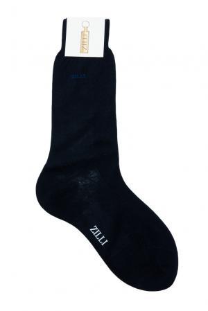 Носки из хлопка 158739 Zilli. Цвет: синий
