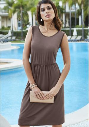 Платье MY STYLE. Цвет: серо-коричневый
