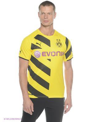 Футболка BVB Home Replica Shirt Puma. Цвет: желтый