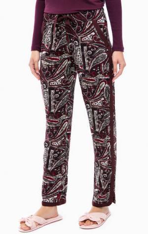 Фиолетовые брюки из вискозы с карманами Jockey. Цвет: фиолетовый
