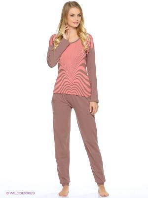 Пижама NICOLETTA. Цвет: коралловый, коричневый