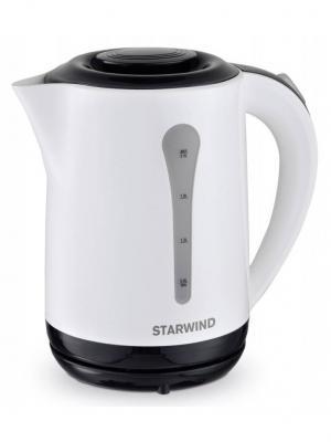 Чайник электрический STARWIND SKP2212, 2200Вт, белый и черный. Цвет: черный
