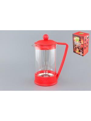 Чайник с поршнем Viva - LaCafe Red Elan Gallery. Цвет: красный, прозрачный