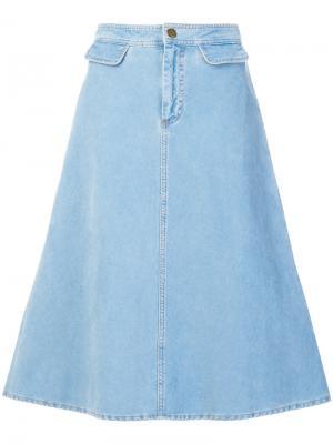 Юбка Byron Mih Jeans. Цвет: синий