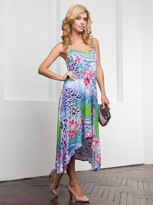Платье МадаМ Т. Цвет: сиреневый, зеленый, малиновый