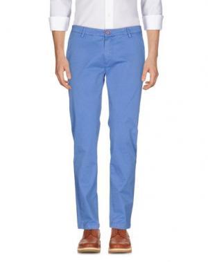Повседневные брюки YAN SIMMON. Цвет: лазурный