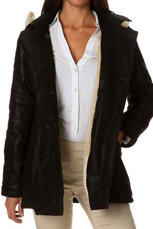 Sheepskin coat Isaco & Kawa. Цвет: brown