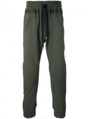 Спортивные брюки Amen. Цвет: зелёный