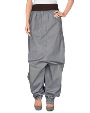 Повседневные брюки BLESS. Цвет: серый