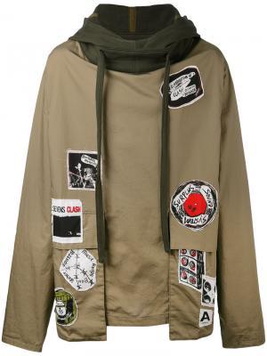 Patch hoodie Ambush. Цвет: зелёный