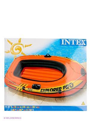 Надувная лодка Explorer Pro 100 Intex. Цвет: оранжевый