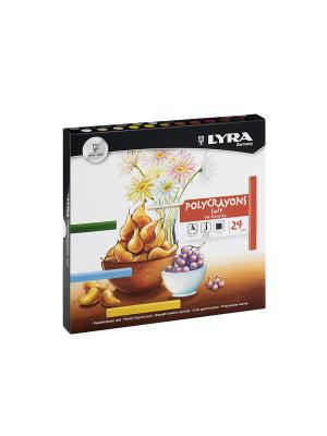 Lyra polycrayon пастель сухая 24 цв.. Цвет: серый, белый, коричневый