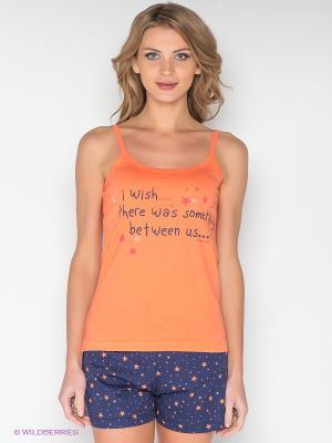 Пижама Vienetta Secret. Цвет: оранжевый, синий