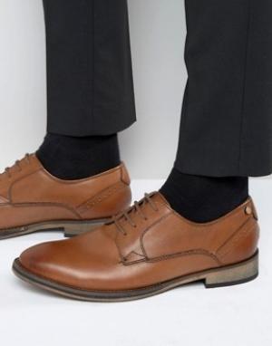 Frank Wright Кожаные оксфордские туфли Merton. Цвет: рыжий