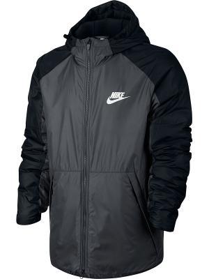 Куртка M NSW SYN FILL JKT HD FLC LN Nike. Цвет: темно-серый, черный