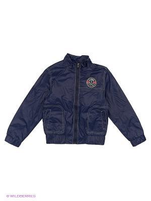 Куртка-ветровка Born. Цвет: синий, светло-серый