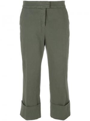 Укороченные брюки в стиле casual Fabiana Filippi. Цвет: зелёный