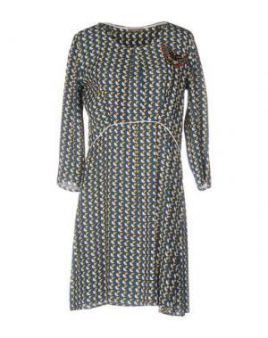Короткое платье DIXIE. Цвет: грифельно-синий